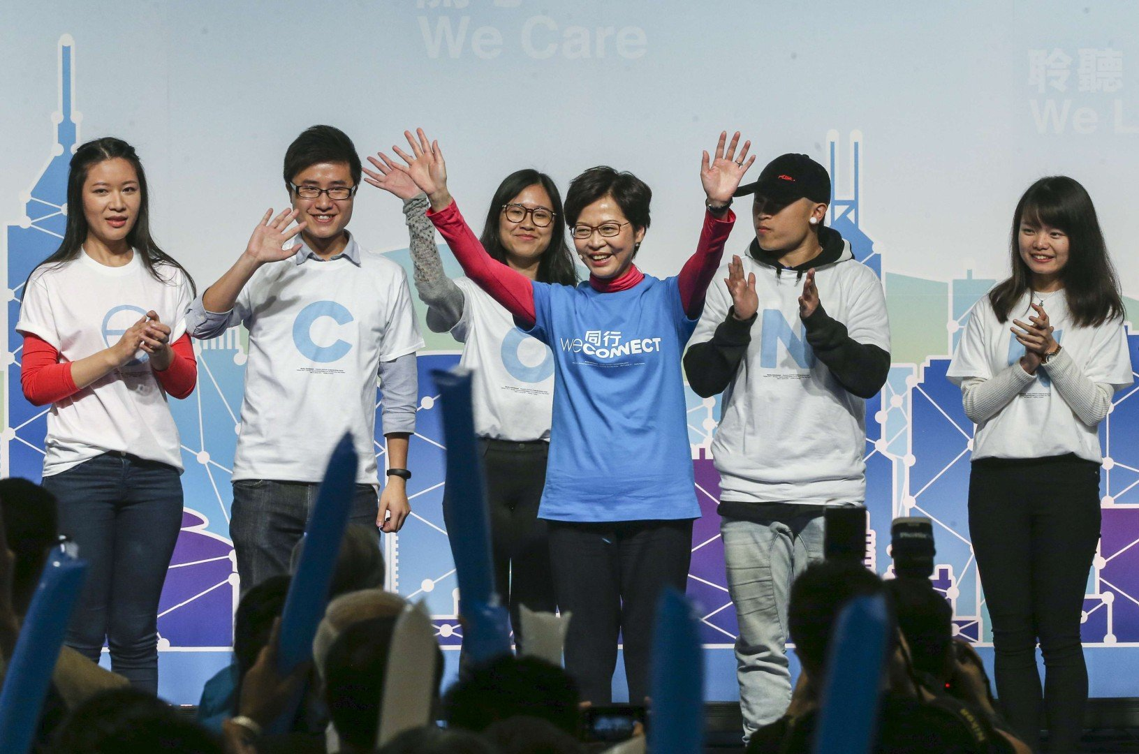 Hong Kong's ice queen Carrie Lam melts hearts at maiden political