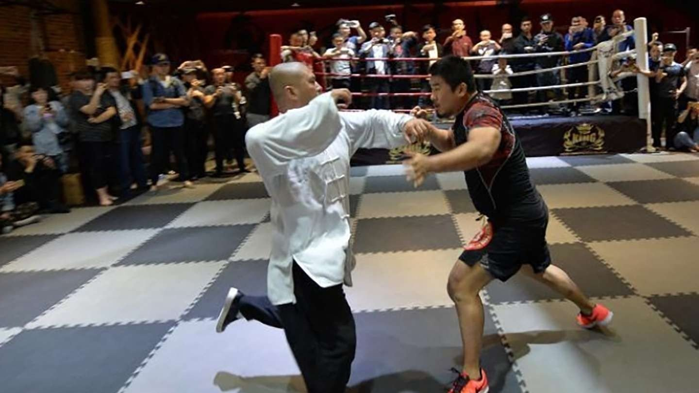 b1666cb00de Gone in 10 seconds – Chinese MMA fighter wipes floor with  thunder-style   tai chi master