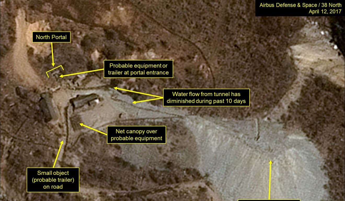 Landslides detected at North Korea's nuclear test site after Chinese