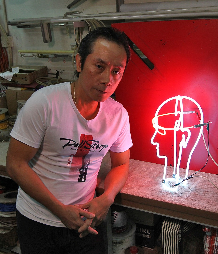 09722b424d3 Meet one of Hong Kong s last neon sign makers and learn why LED lights  haven t put him out of business