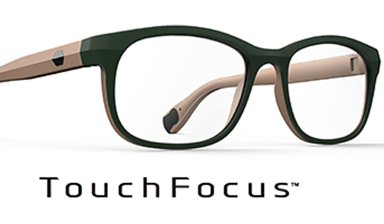 97150b0a4d3 Smart glasses allow users to switch focus with touch of the finger ...