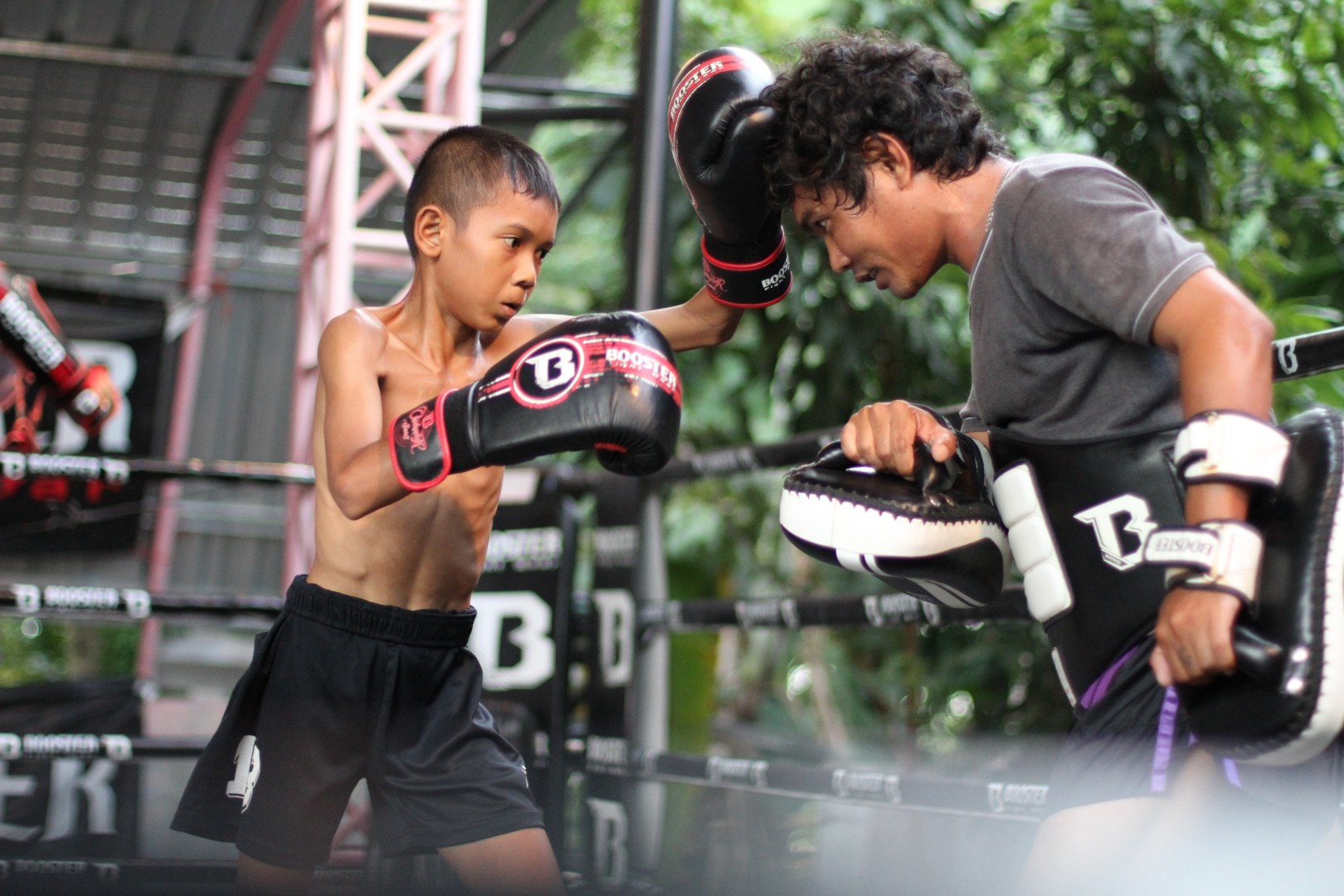c63b4363b Muay Thai fight couple s non-profit gym gives sense of purpose to Thai  village children