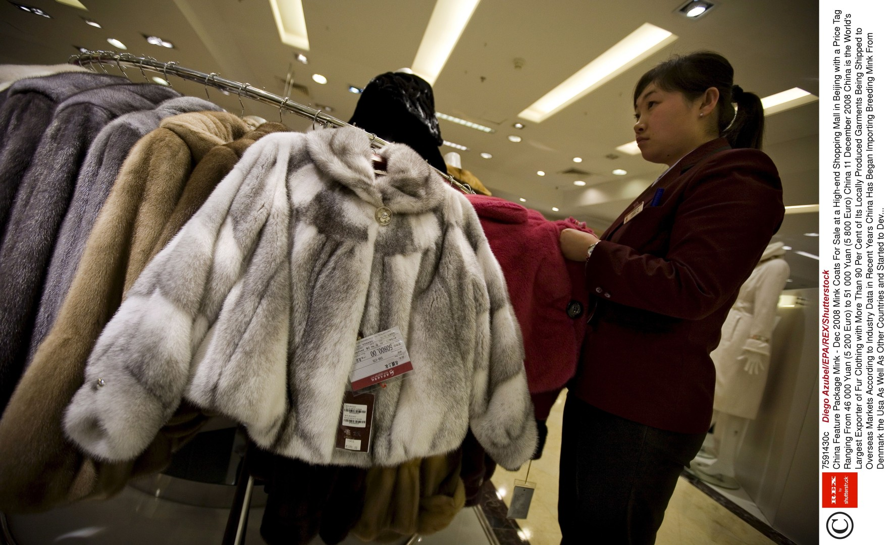 b912f648eba China s fur capital touts itself to world even if fur s out at Versace and  other leading fashion houses
