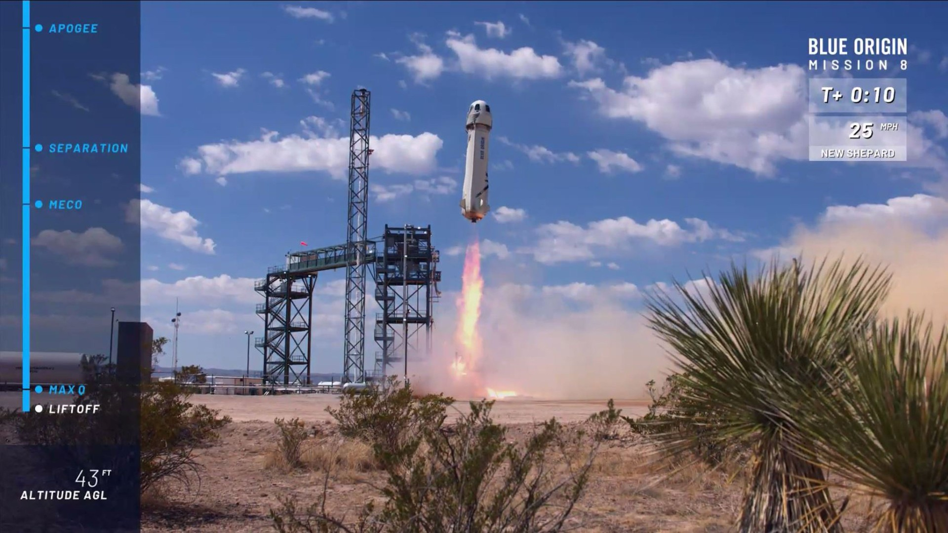 Watch Jeff Bezos' Blue Origin Rocket go to Space and Land Back on Earth
