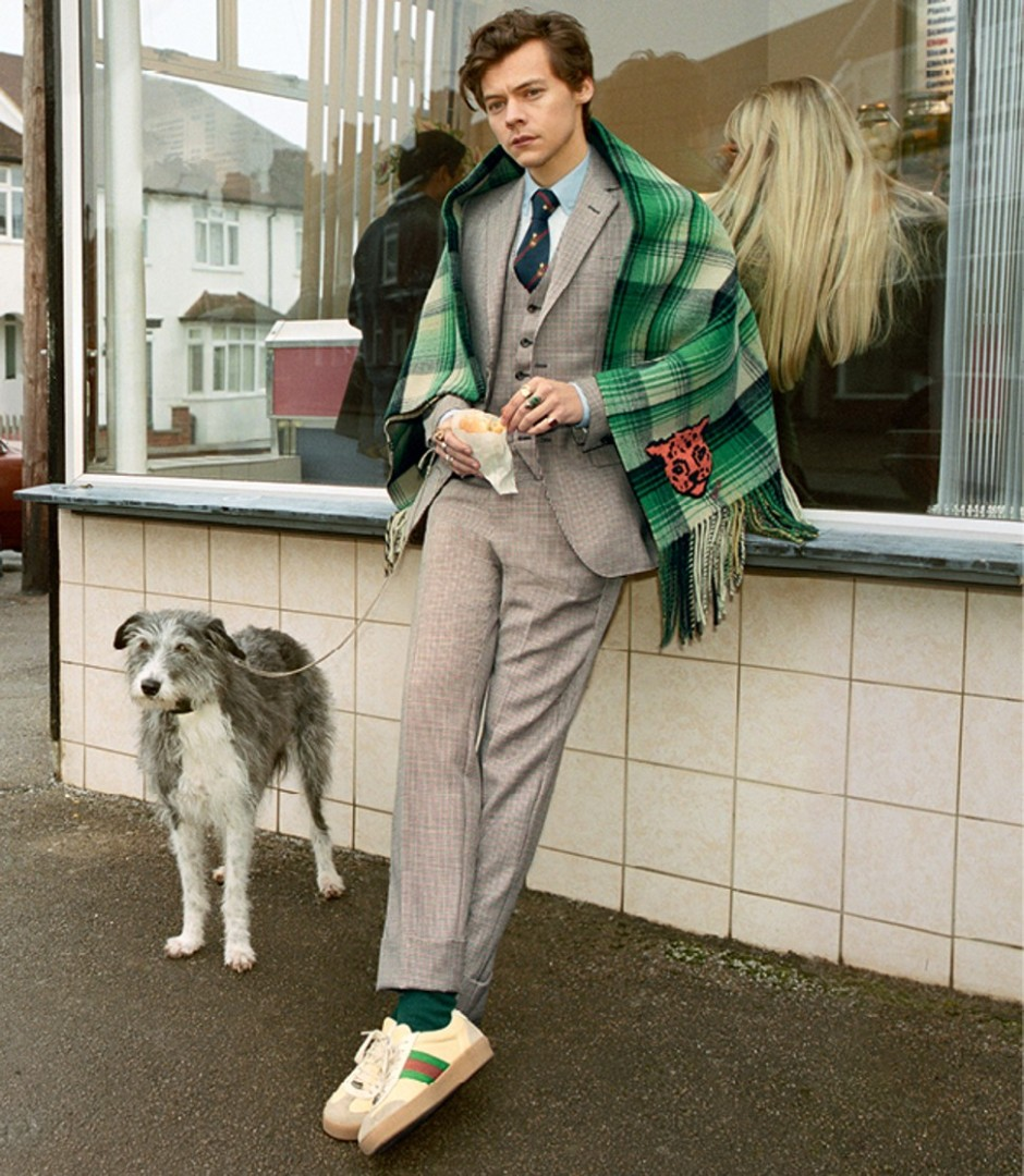 db2bc8653c154b Harry Styles is the new face of Gucci s men s tailoring campaign ...