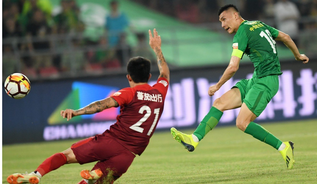 5762110a87527b Chinese Super League  Jonathan Soriano treble keeps Beijing Guoan in pole  position