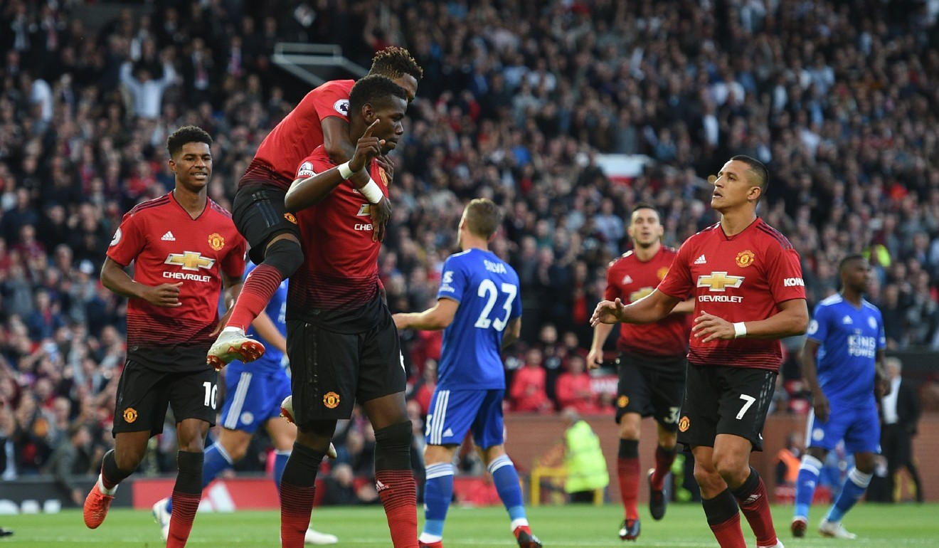 9cafef9a349 Paul Pogba penalty run-up after Alexis Sanchez row sparks social media  jokes and memes as Manchester United beat Leicester
