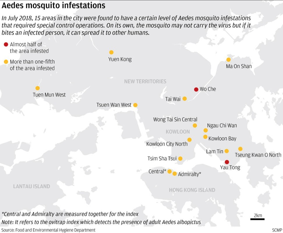 Dengue fever-carrying mosquitoes more widespread in Hong Kong as