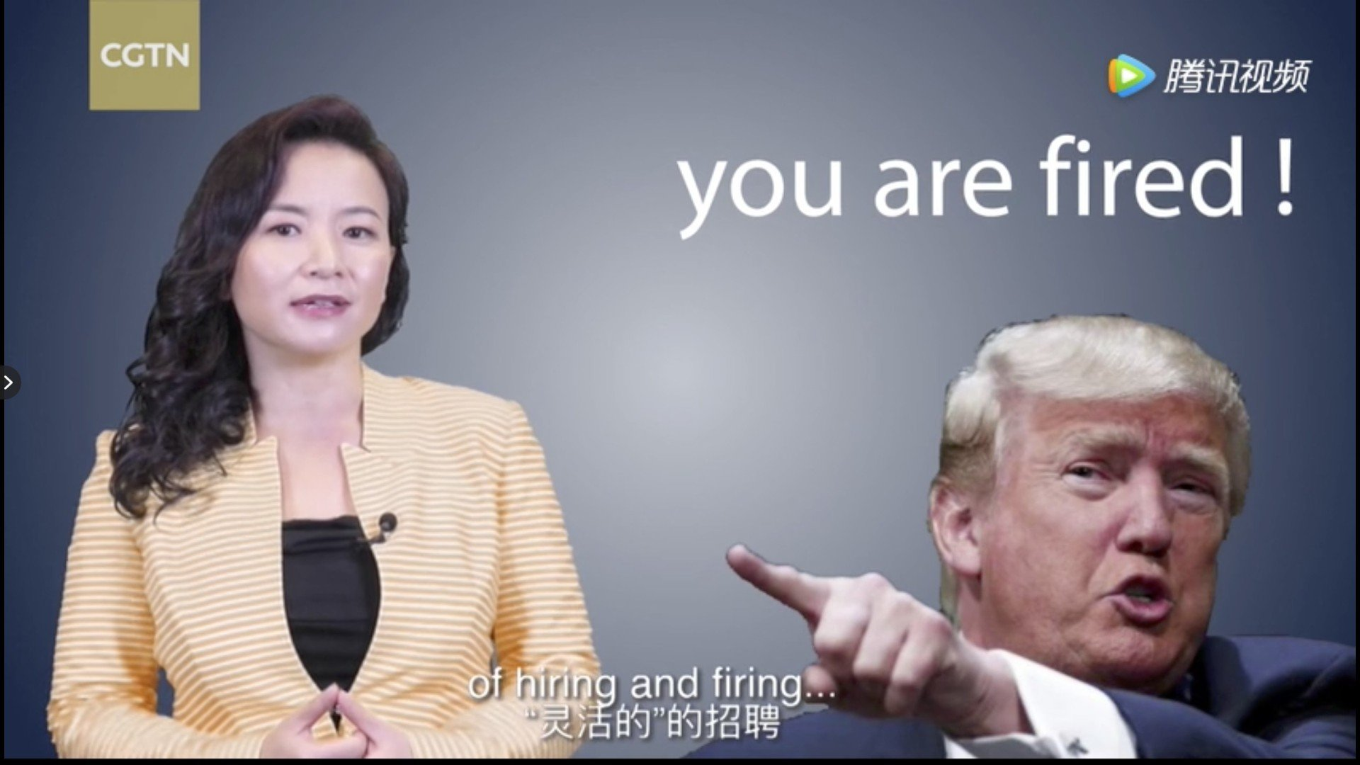 Video mocking Donald Trump pulled by Chinese state media     just