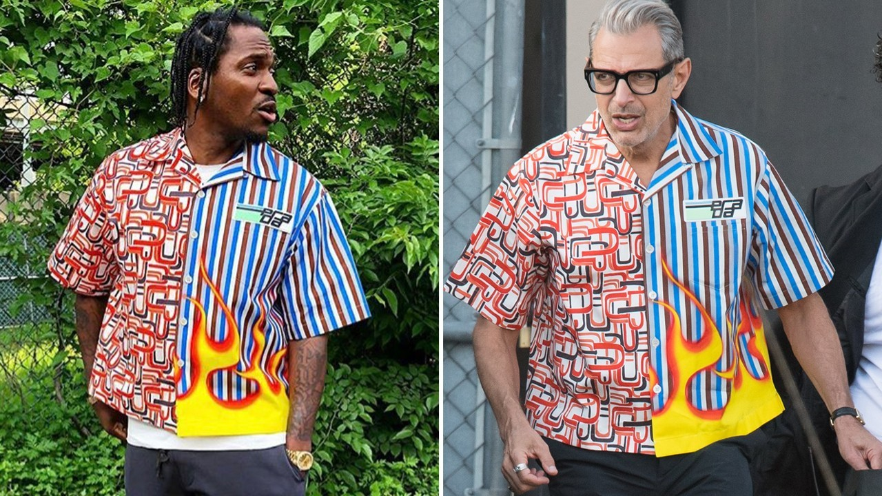 1d27e8605 Prada's 'ugly' flame shirt: who wore it better, Jeff Goldblum or Pusha T?    South China Morning Post