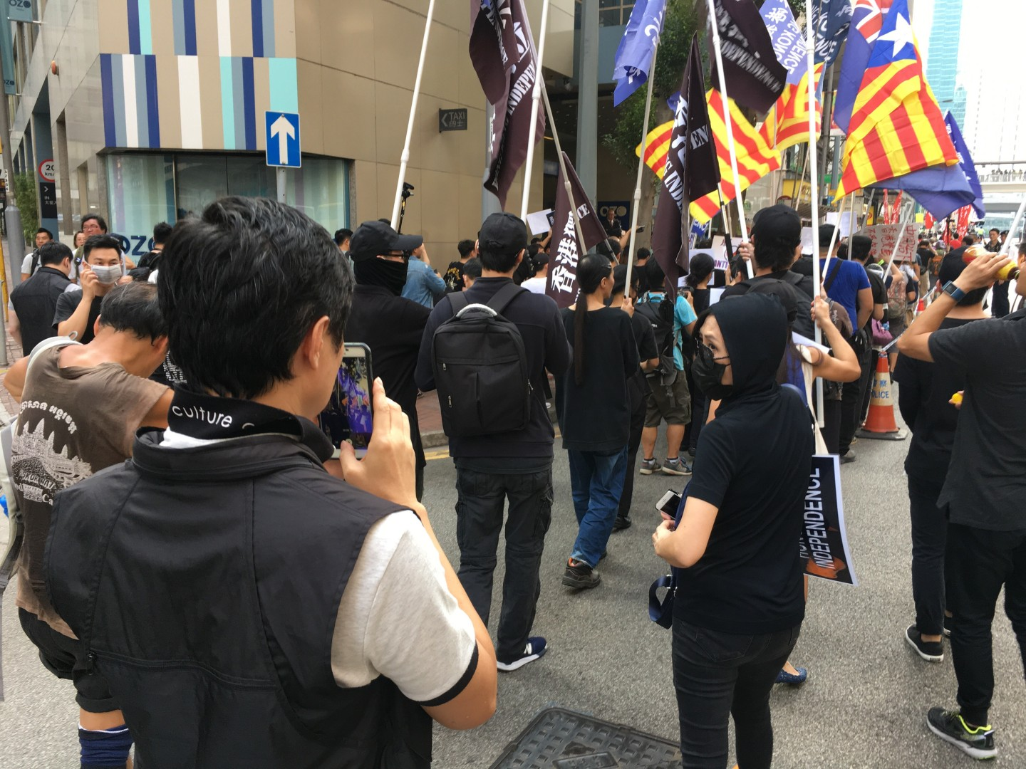 Hong Kong protesters channel Catalan spirit as they march