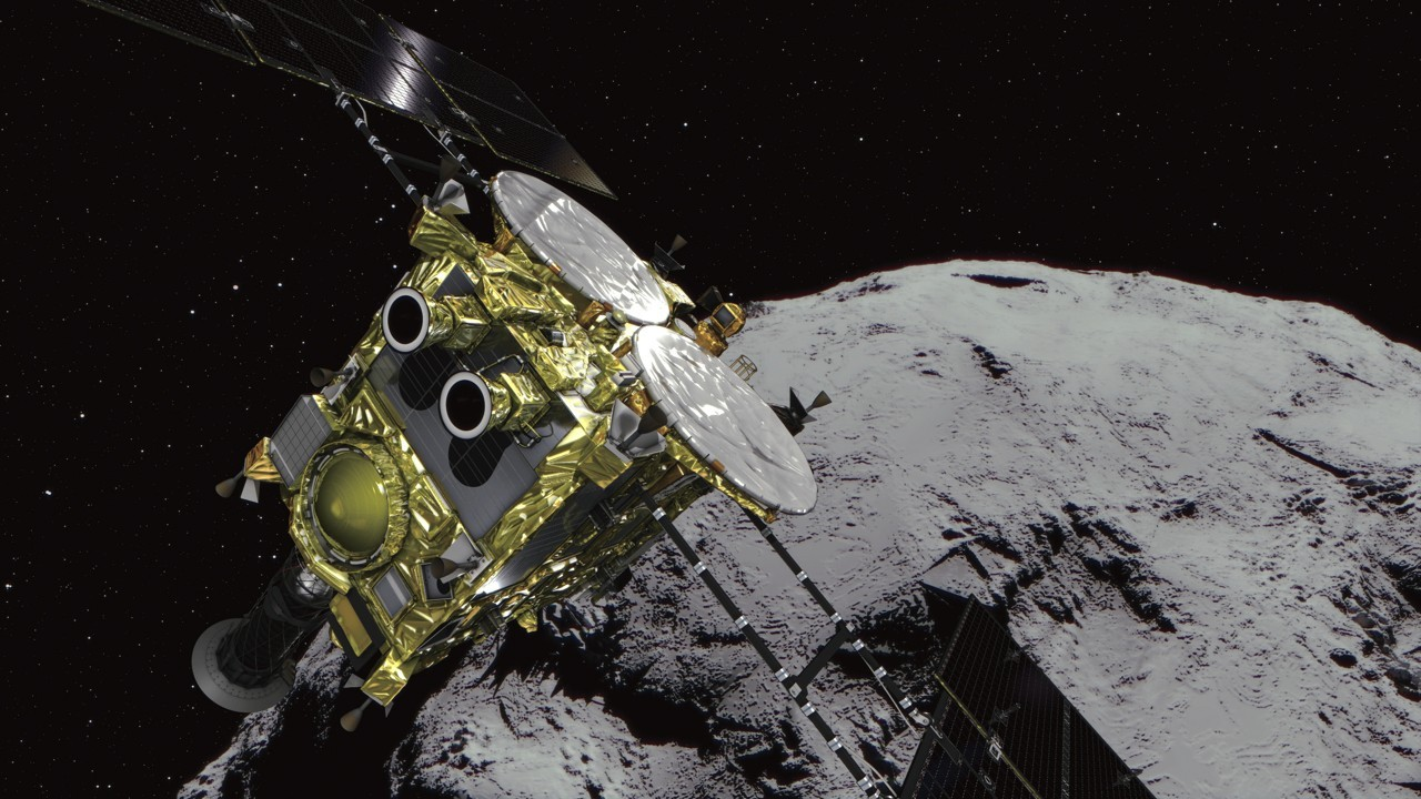 Japanese space probe Hayabusa2 lands second robot explorer