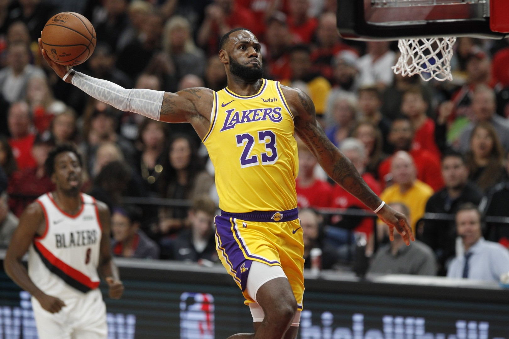25b334d14a4f LeBron James loses first game with LA Lakers as they fall to Portland Trail  Blazers in tense season-opener