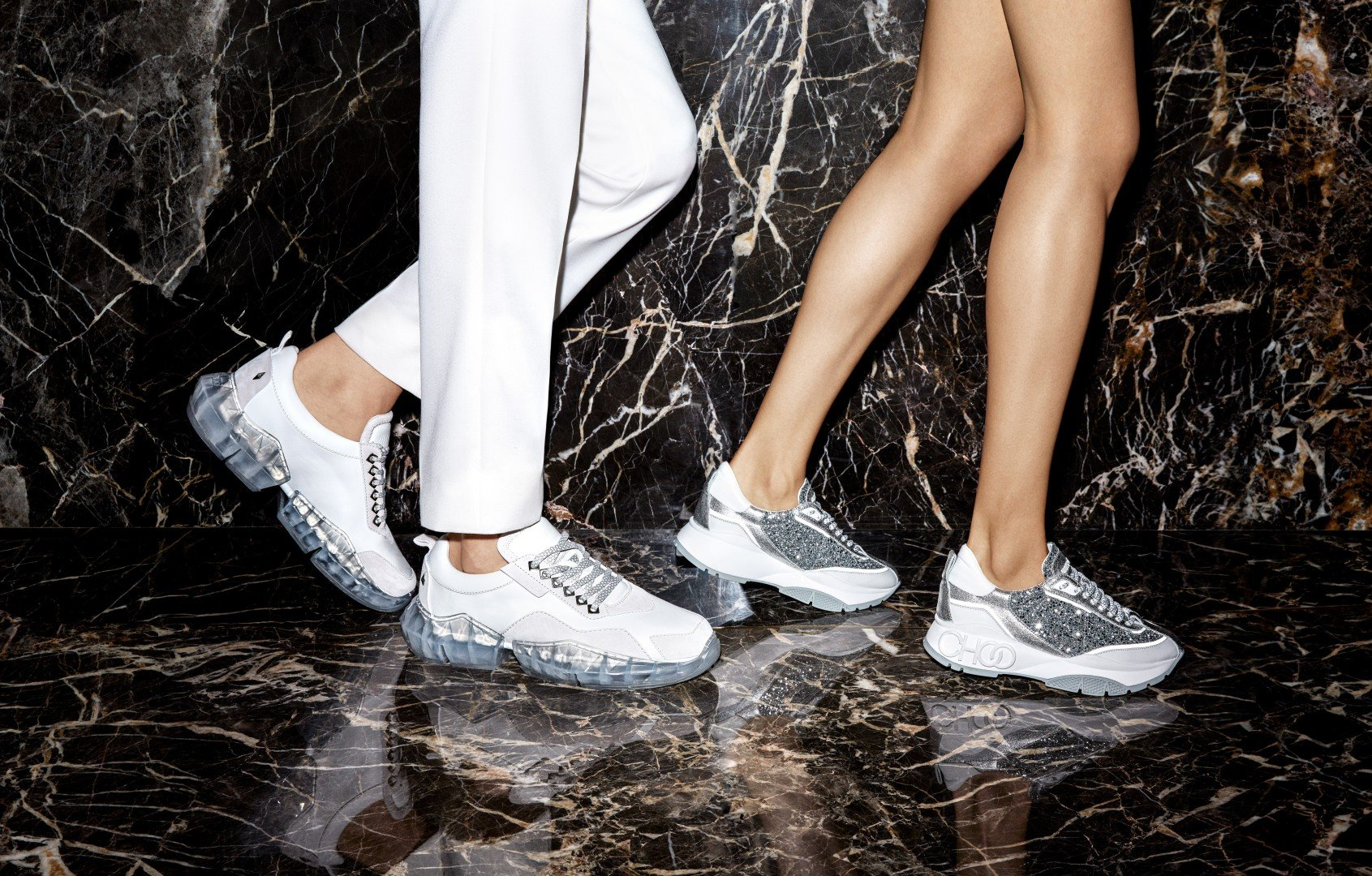 premium selection 4c640 50c03 STYLE Edit  why are Jimmy Choo s crystal-studded sneakers so popular     South China Morning Post