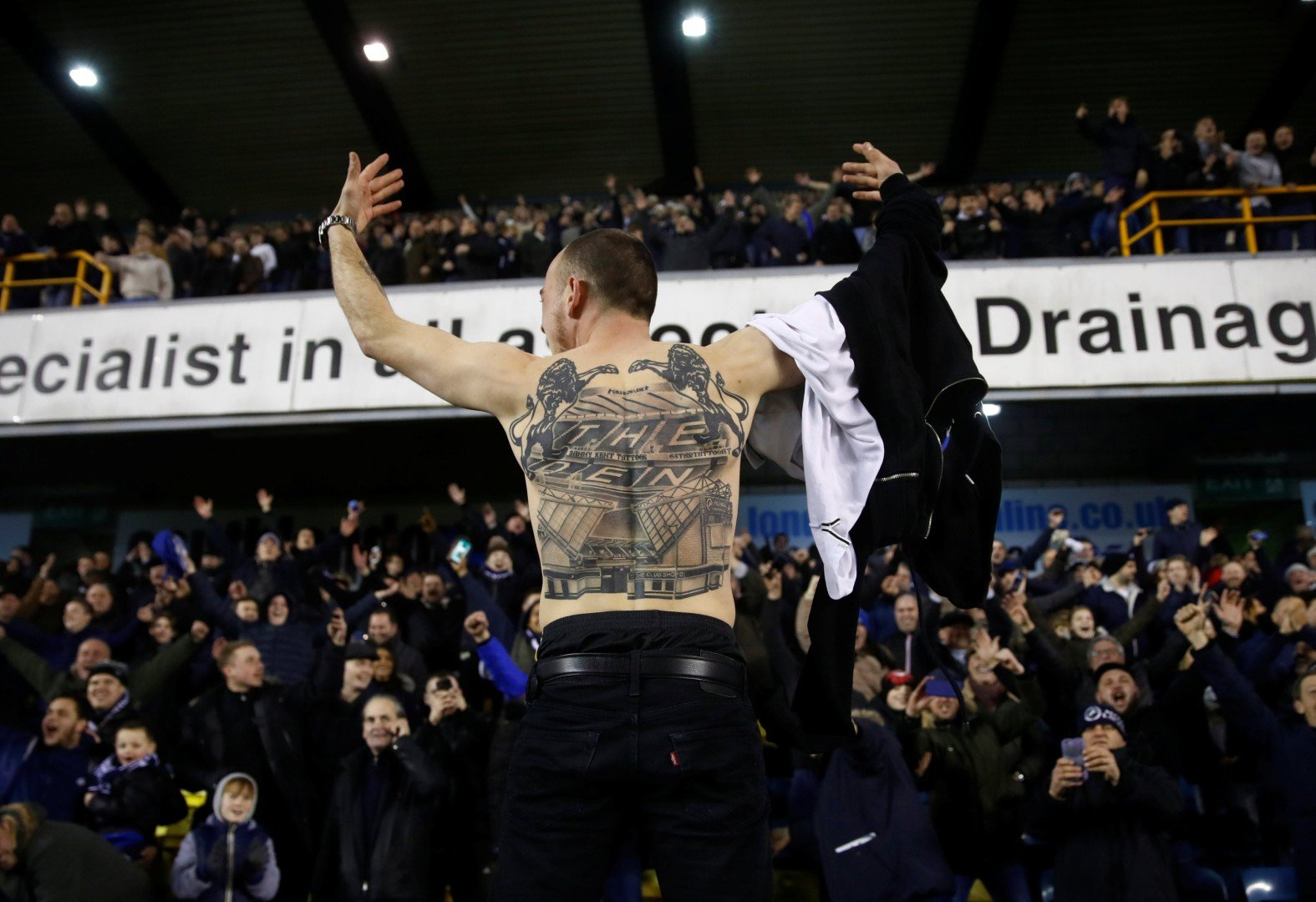 fbde010fb Millwall and Everton supporters fighting show football violence has died  down