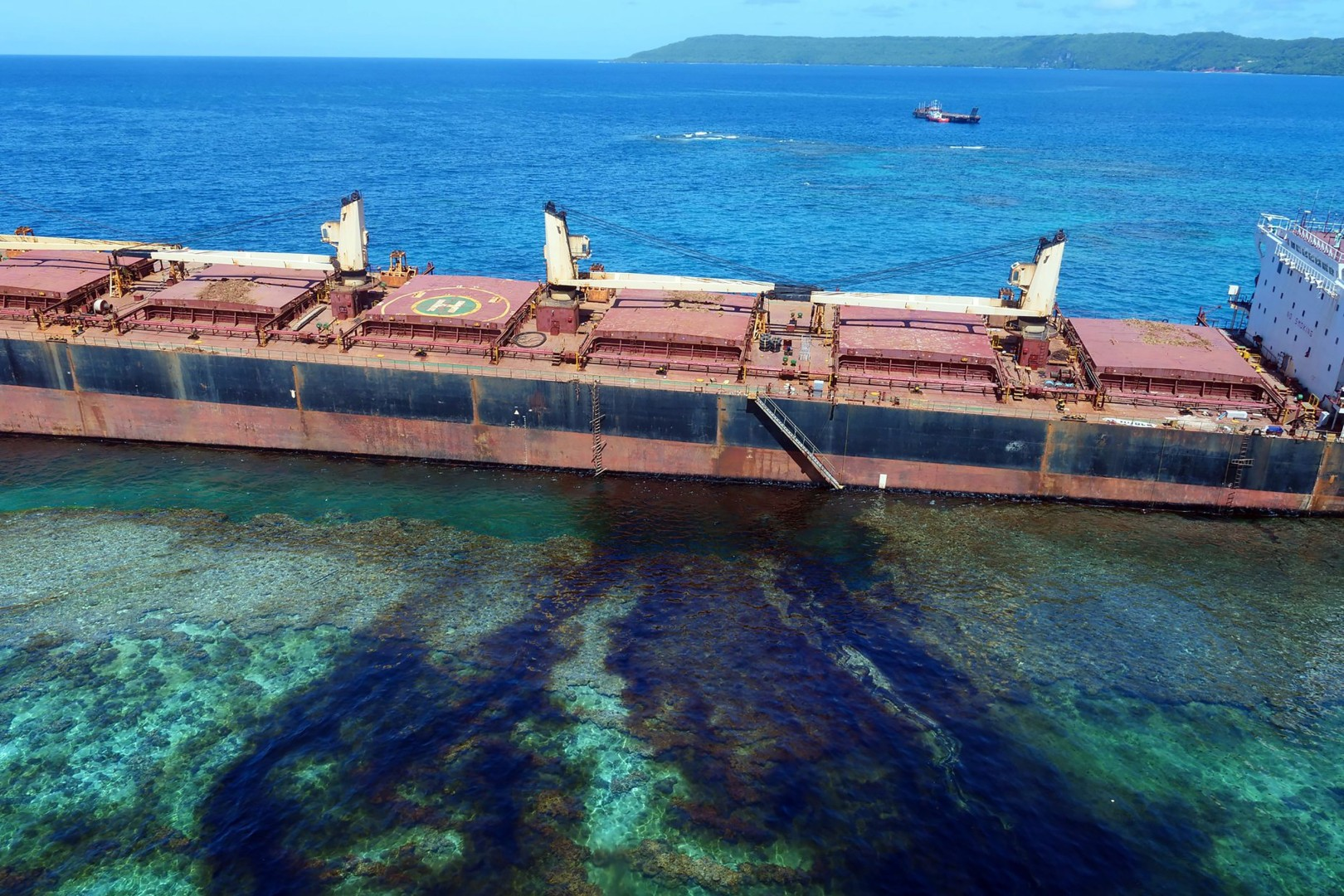 Australia sends help to Solomon Islands as grounded Hong