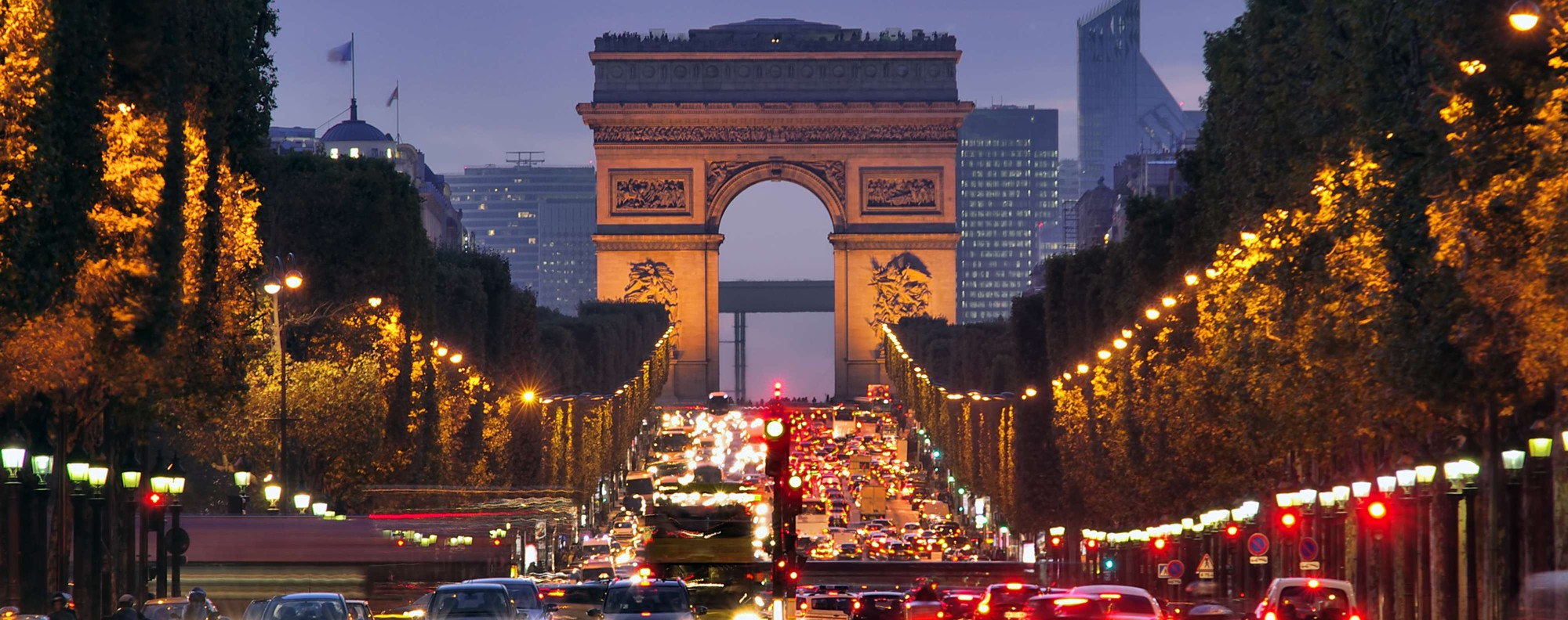 The Champs-Elysees, in Paris