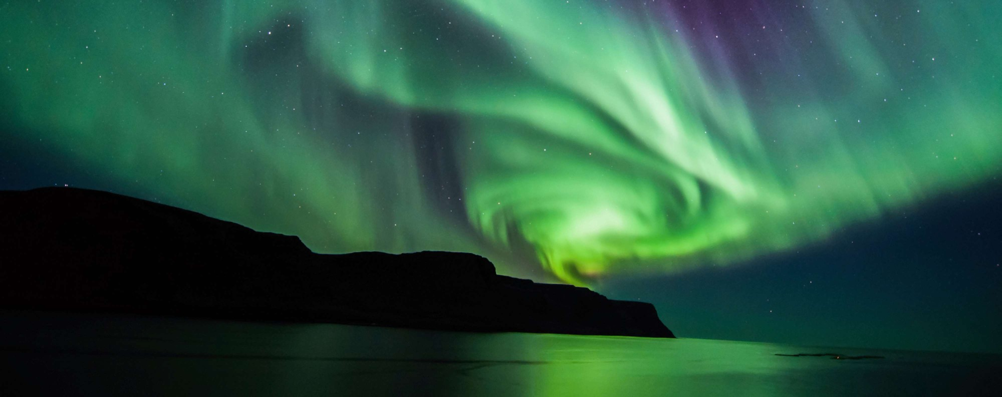 The Northen Lights above Iceland.