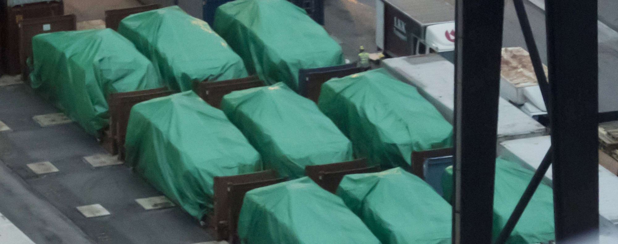 The cars were held in Hong Kong for two months. Photo: AP