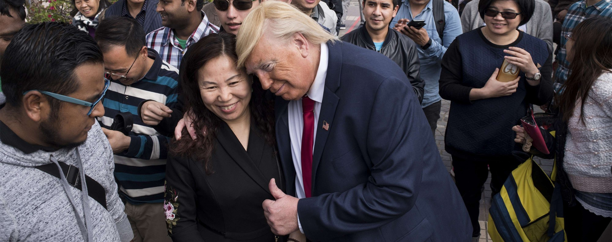 Donald Trump impersonator Dennis Alan in Hong Kong. Picture: Miguel Candela