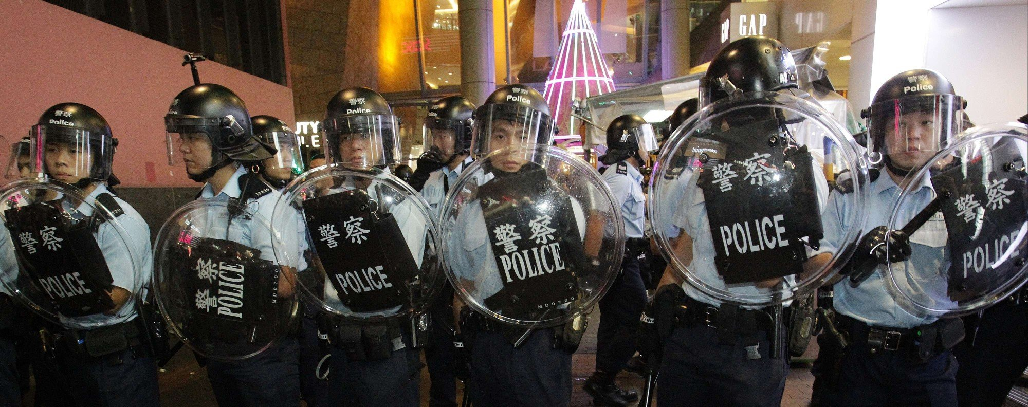 Hong Kong police: under siege. Photo: SCMP Pictures