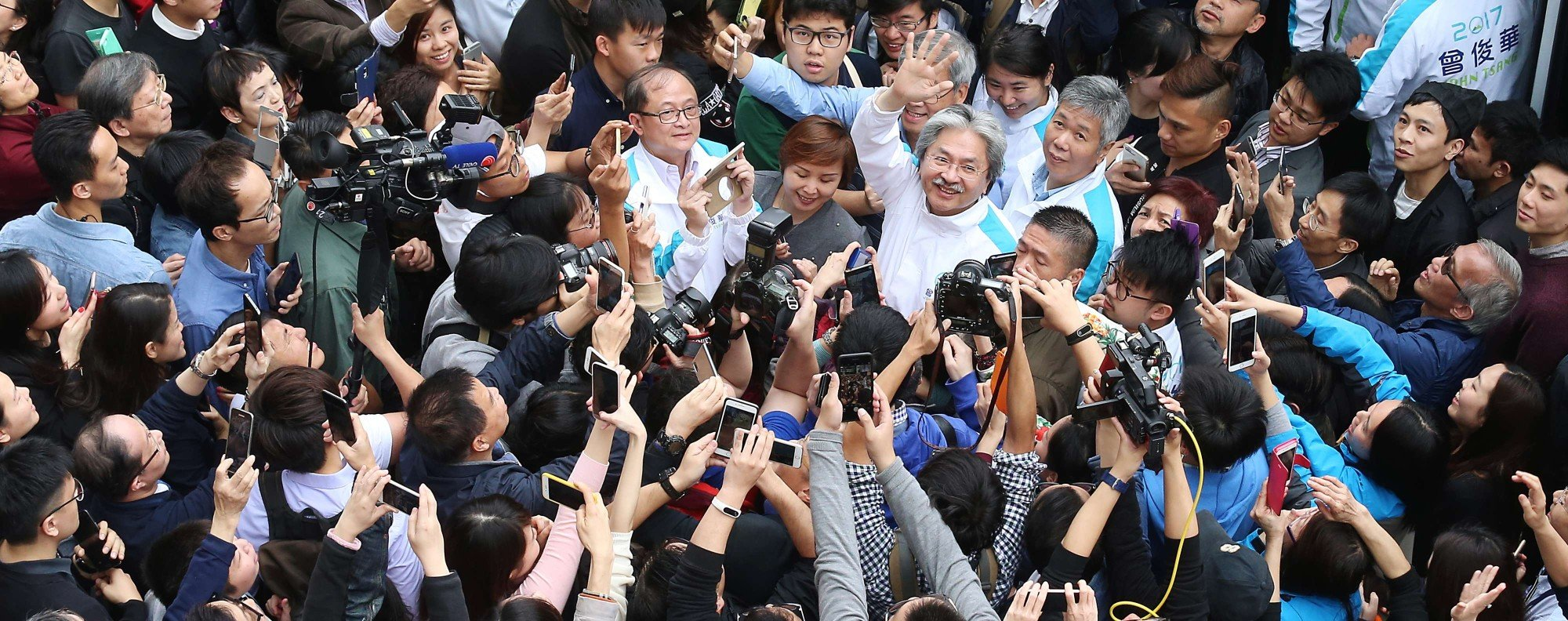 Chief executive candidate John Tsang. Photo: K. Y. Cheng