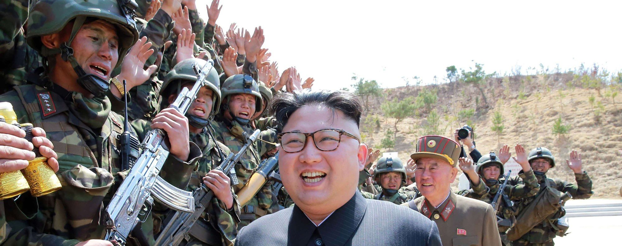 North Korean leader Kim Jong-un inspecting his forces at an undisclosed location. Photo: AFP
