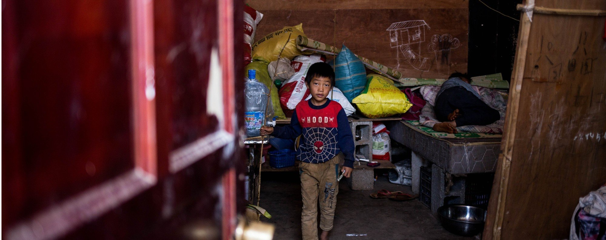 A refugee camp in Laukkai. Picture: Ann Wang