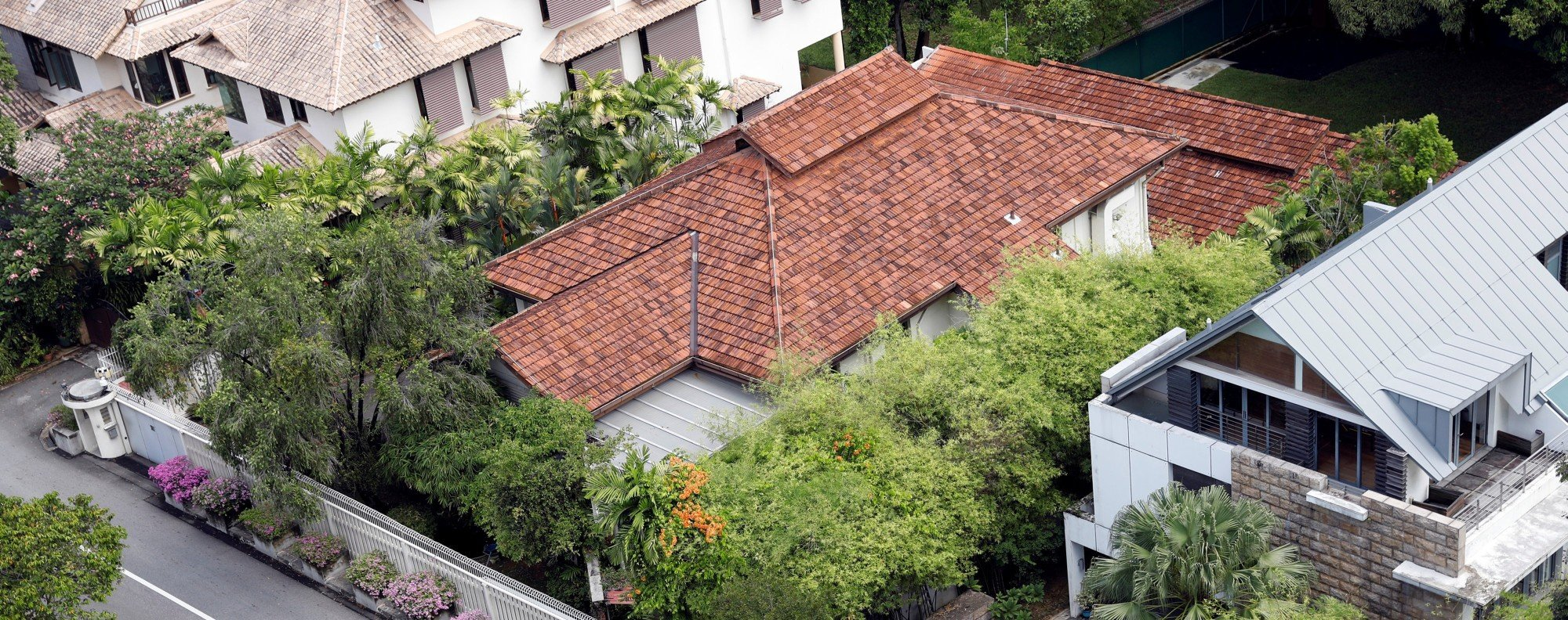 A view of former prime minister Lee Kuan Yew's Oxley Road residence in Singapore. Photo: Reuters