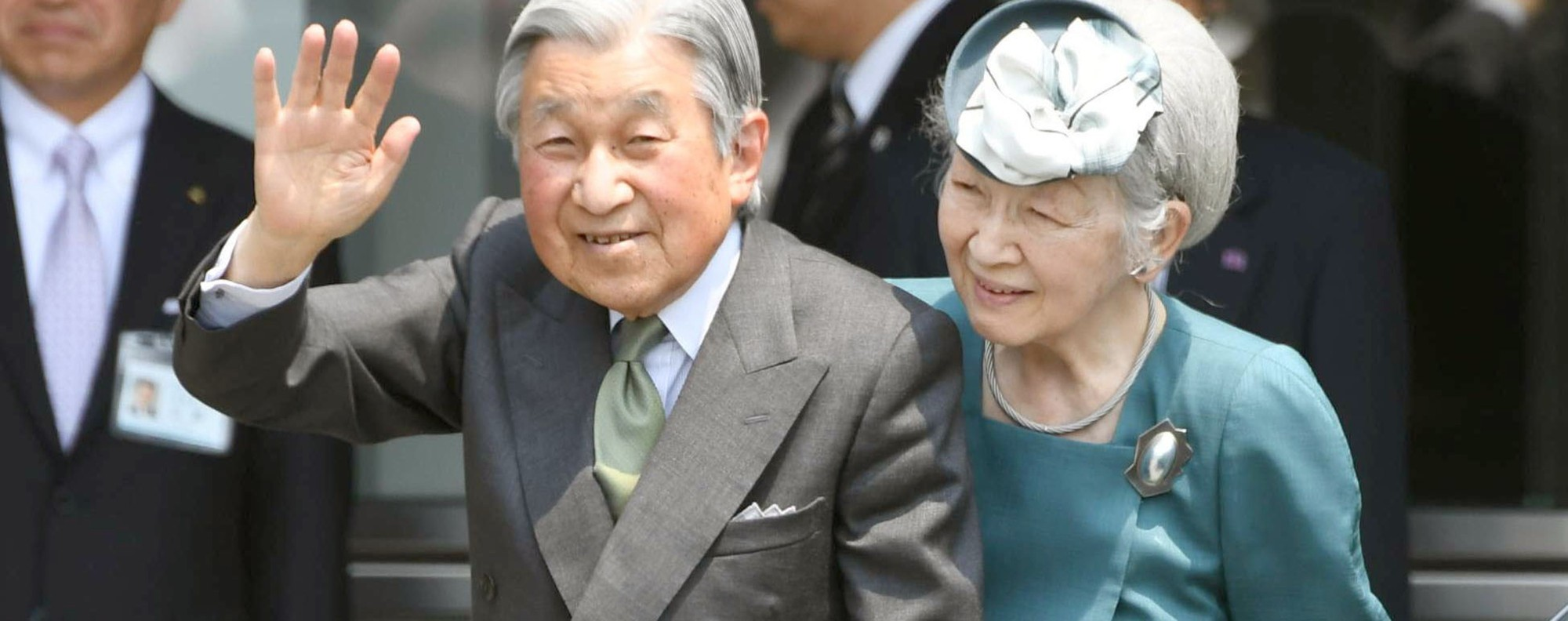 Emperor Akihito and Empress Michiko. Photo: Kyodo