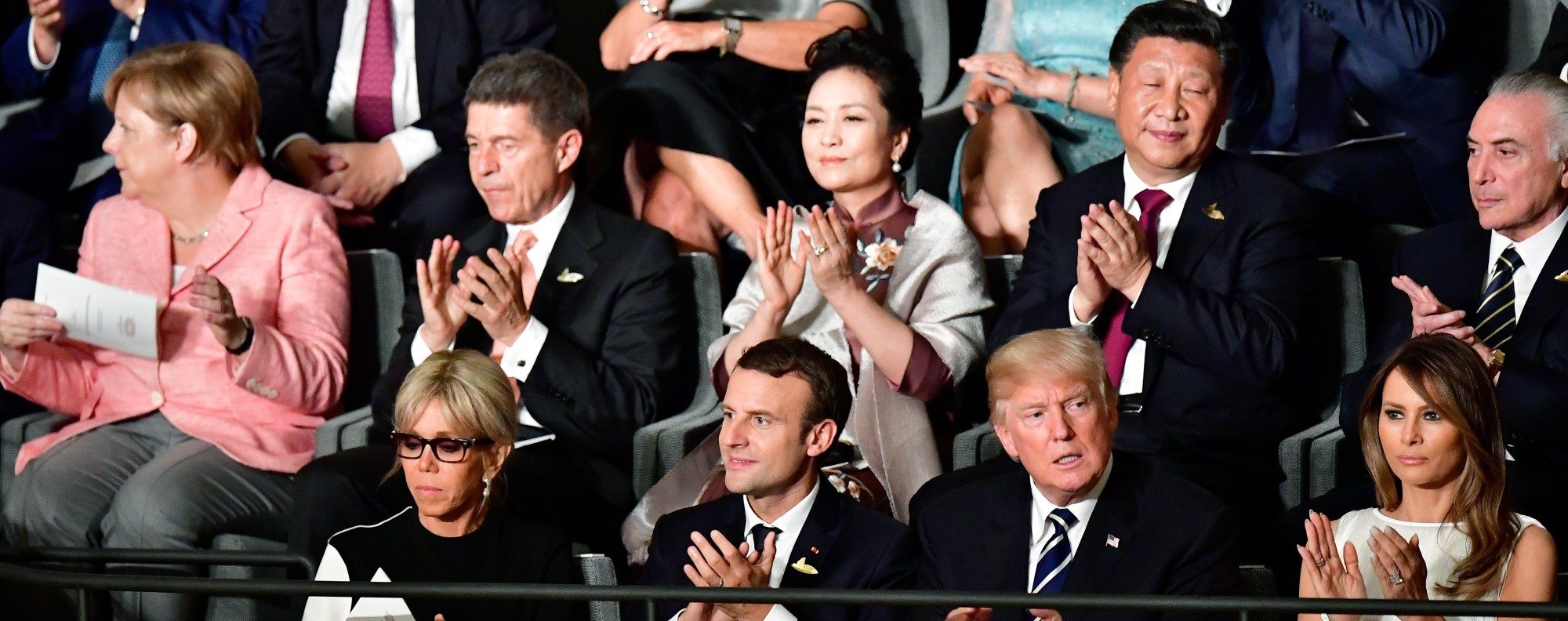 World leaders at a concert marking the G20 Summit. Photo: AFP