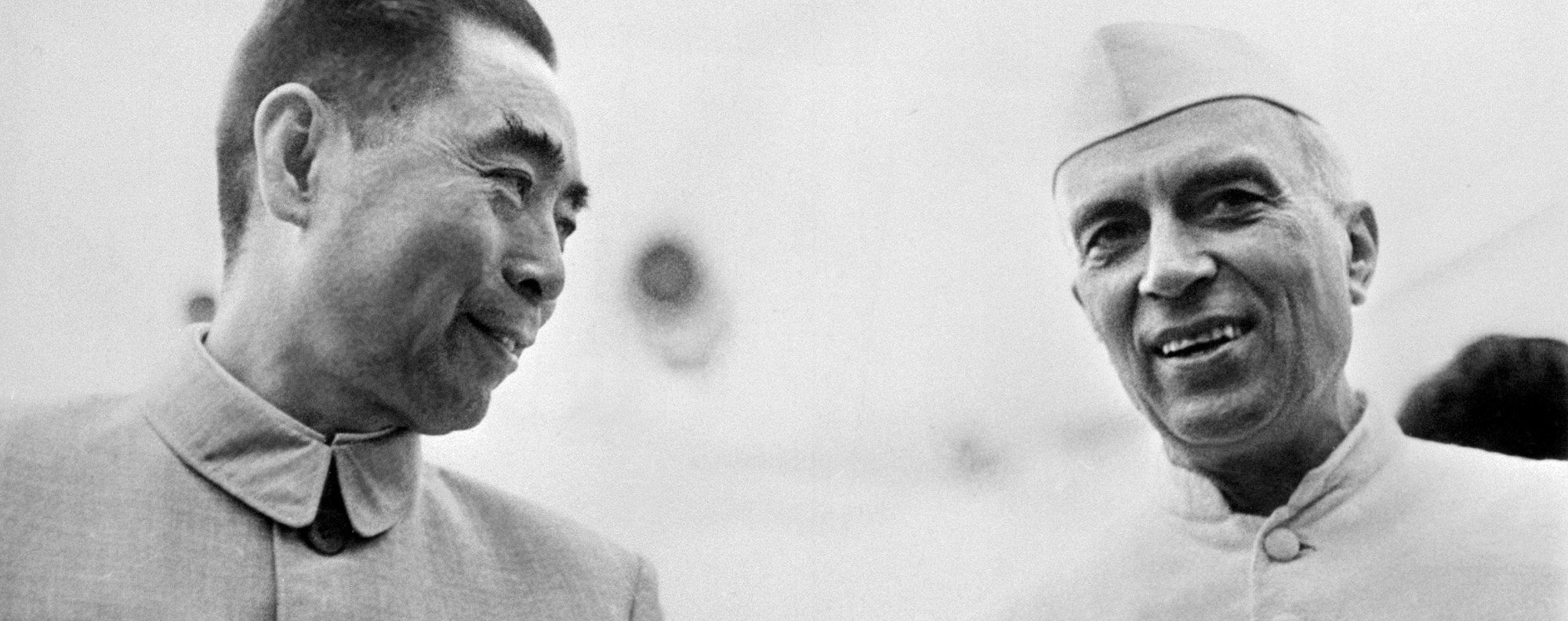 Zhou Enlai and Jawaharlal Nehru in the 1950s. Photo: AFP