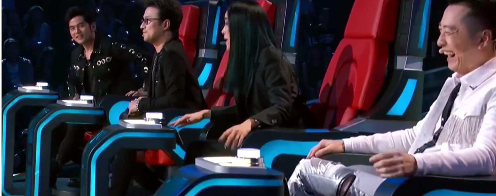 The judges on Sing! China. Photo: The Straits Times