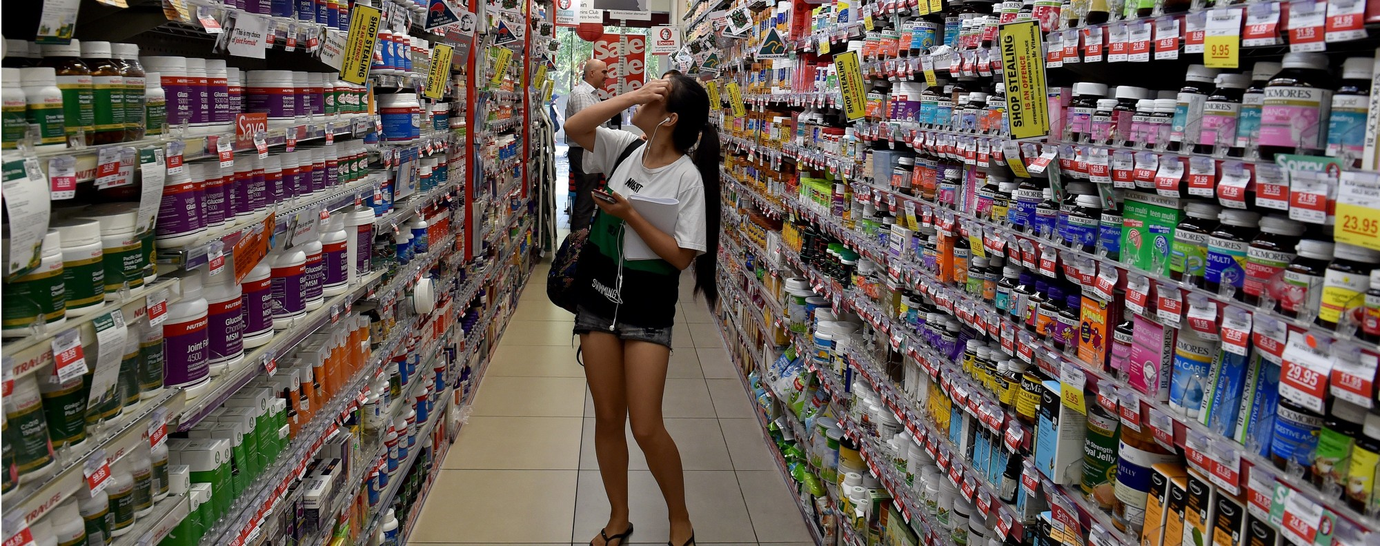 Health products are popular with daigou shoppers. Photo: AFP