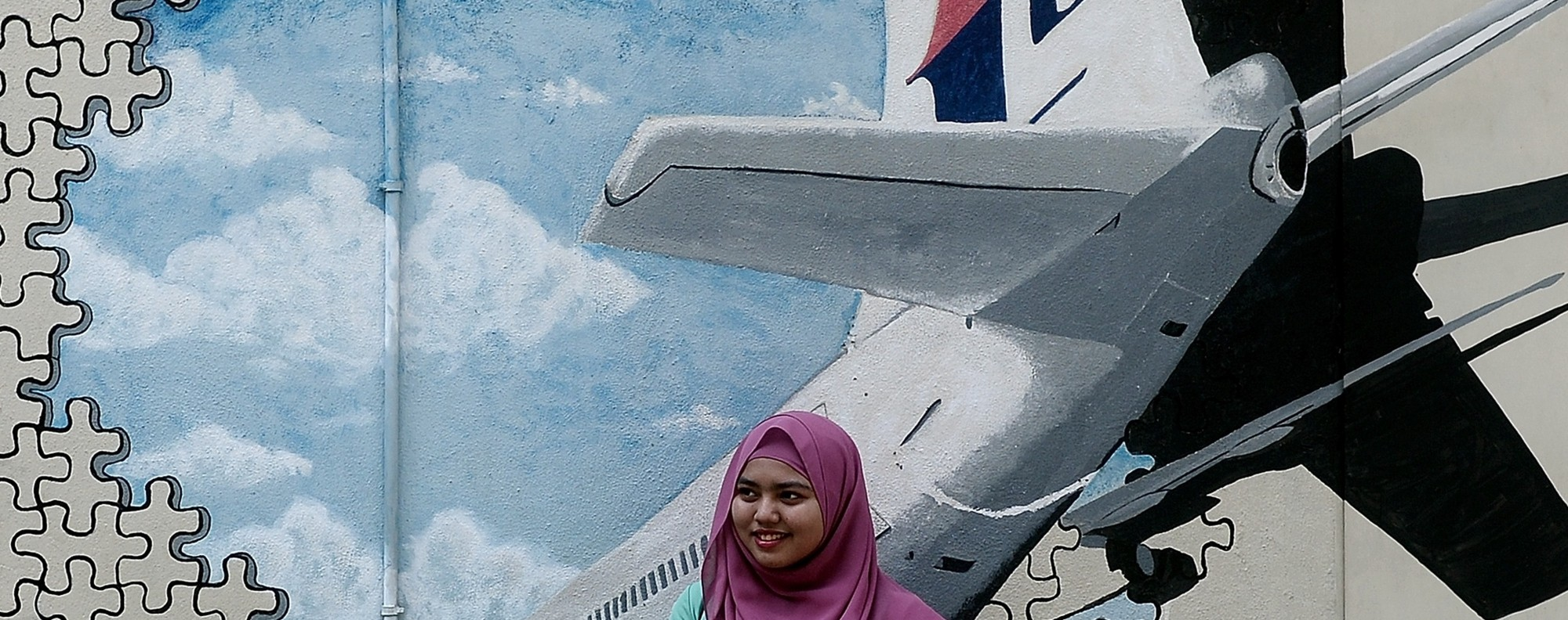An MH370 mural. Photo: AFP