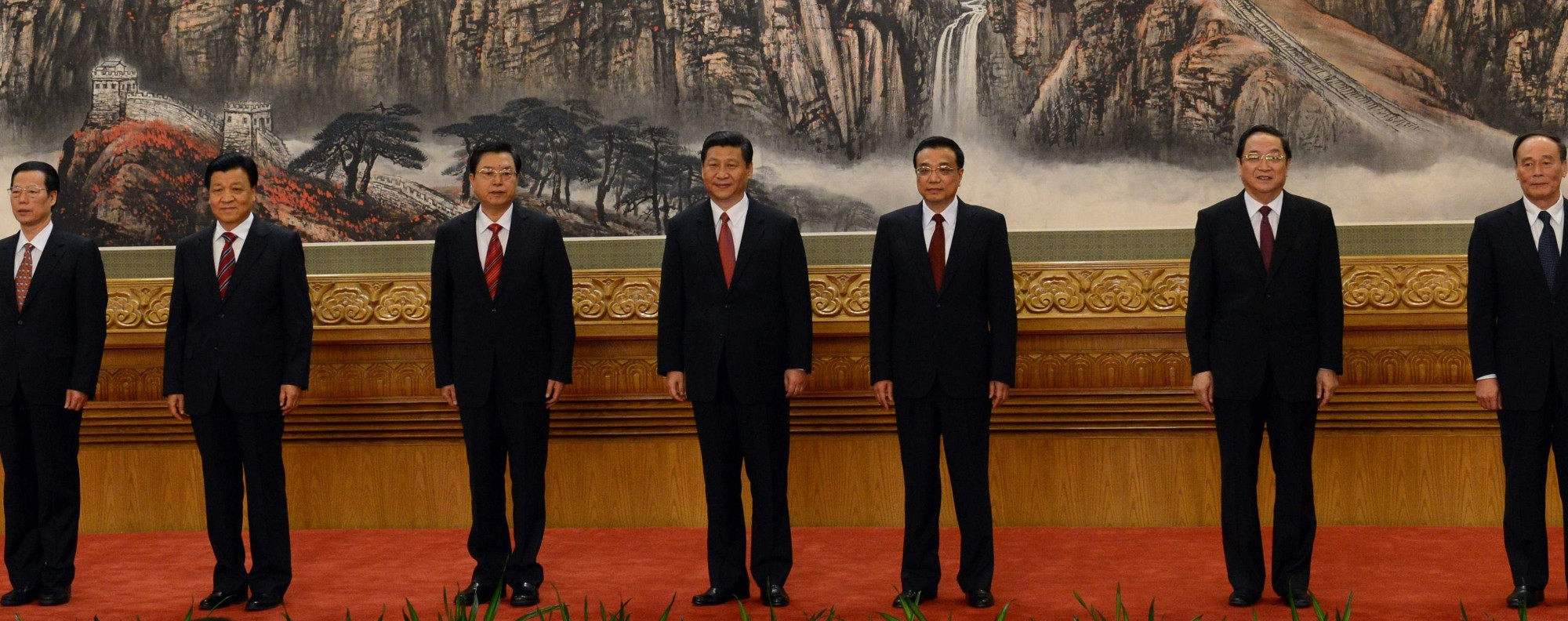 The Politburo Standing Committee. Photo: AFP
