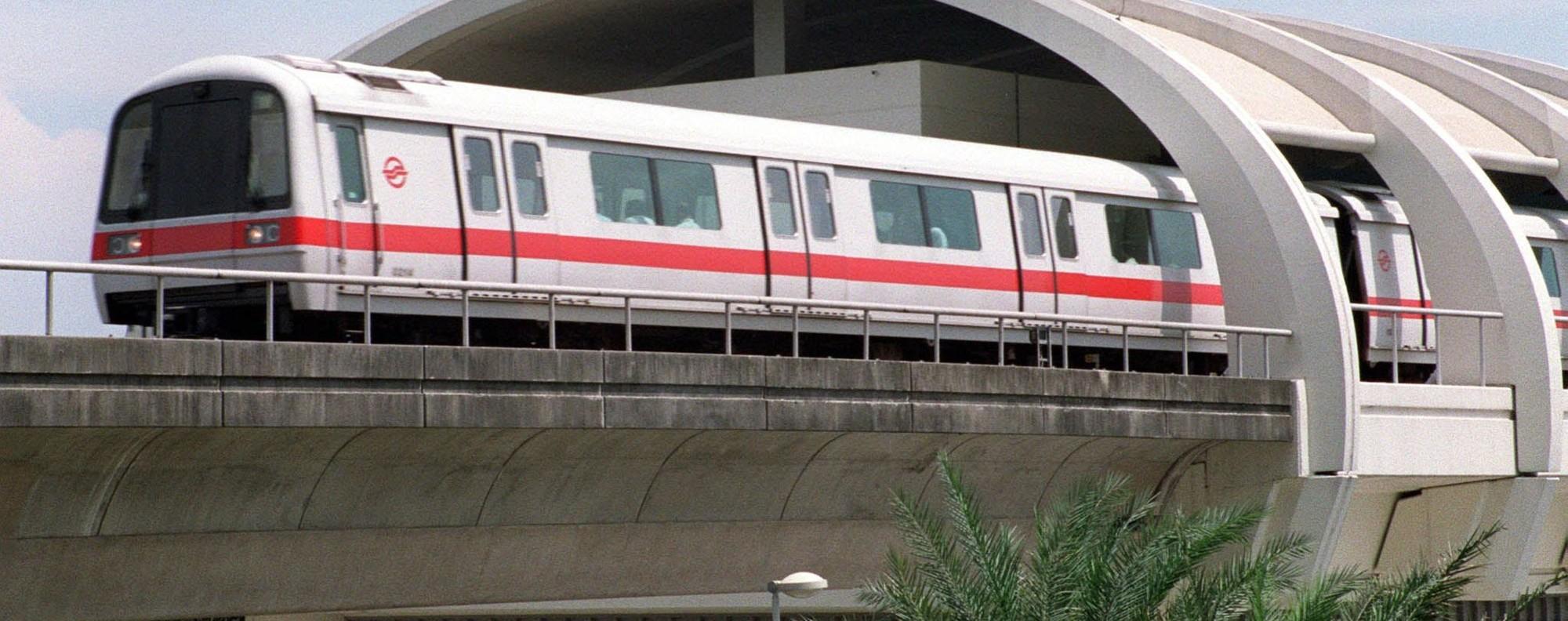 A Singapore Mass Rapid Transit train. Photo: AFP