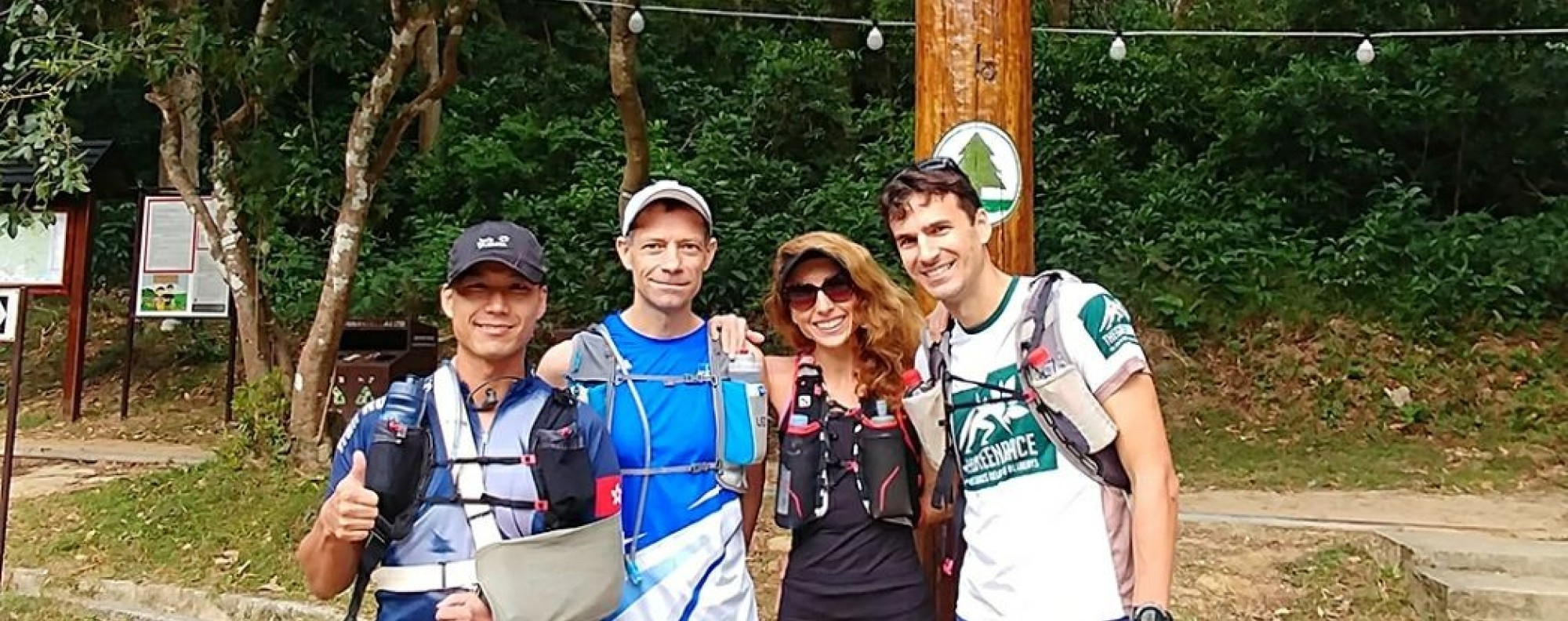Vic So Lok is taking on the Trailwalker, despite a recent operation, with teammates (from left) Rupert Chamberlain, Emilie Saint Pe and Michael Skobierski. Photos: KPMG