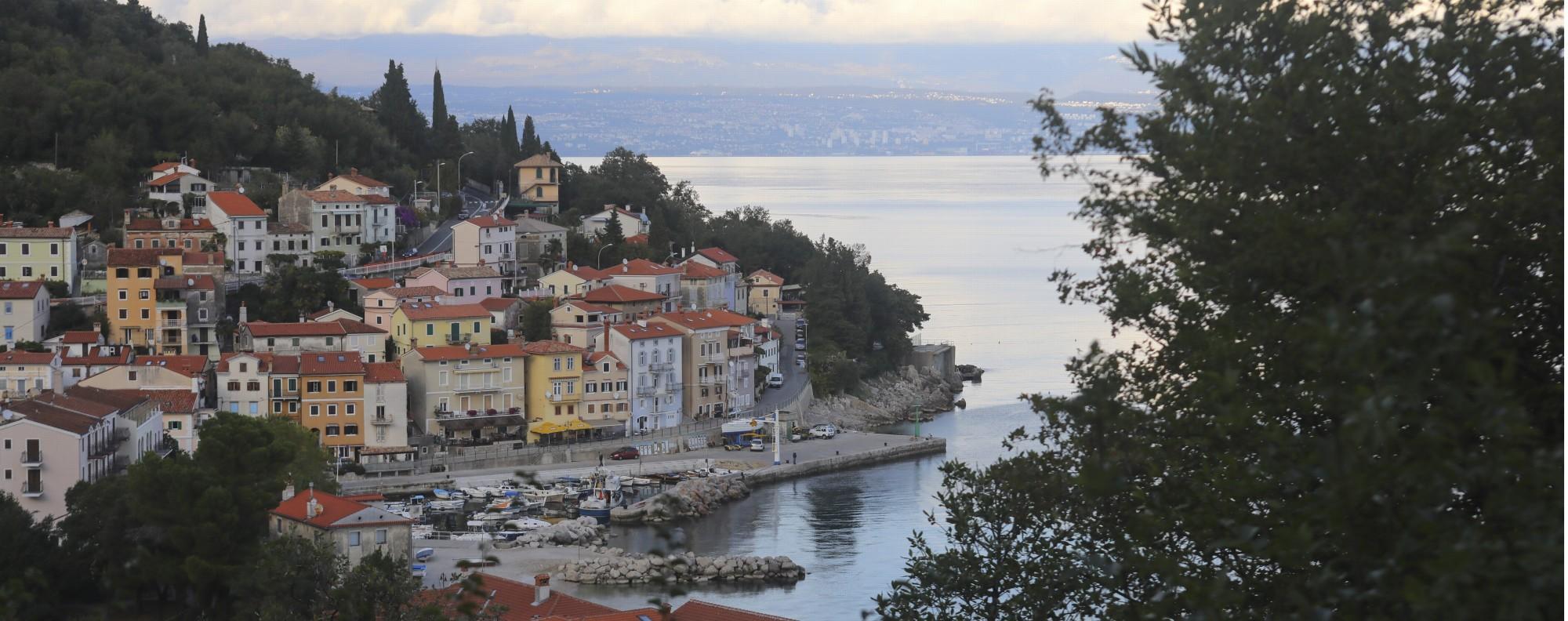 A harbour near Opatija, Croatia.