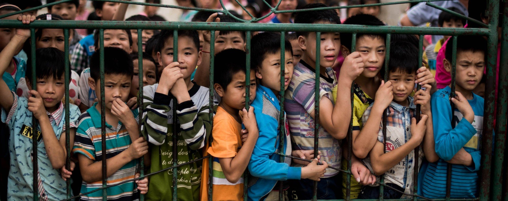 There are 61 million left-behind children in China. Photo: AFP