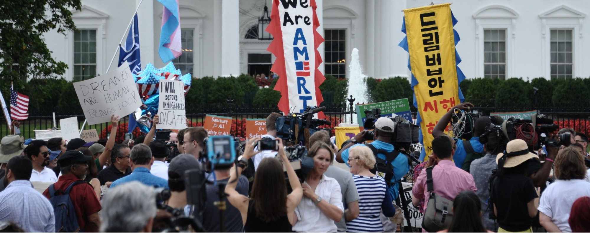An immigration protest at the White House. Photo: AFP