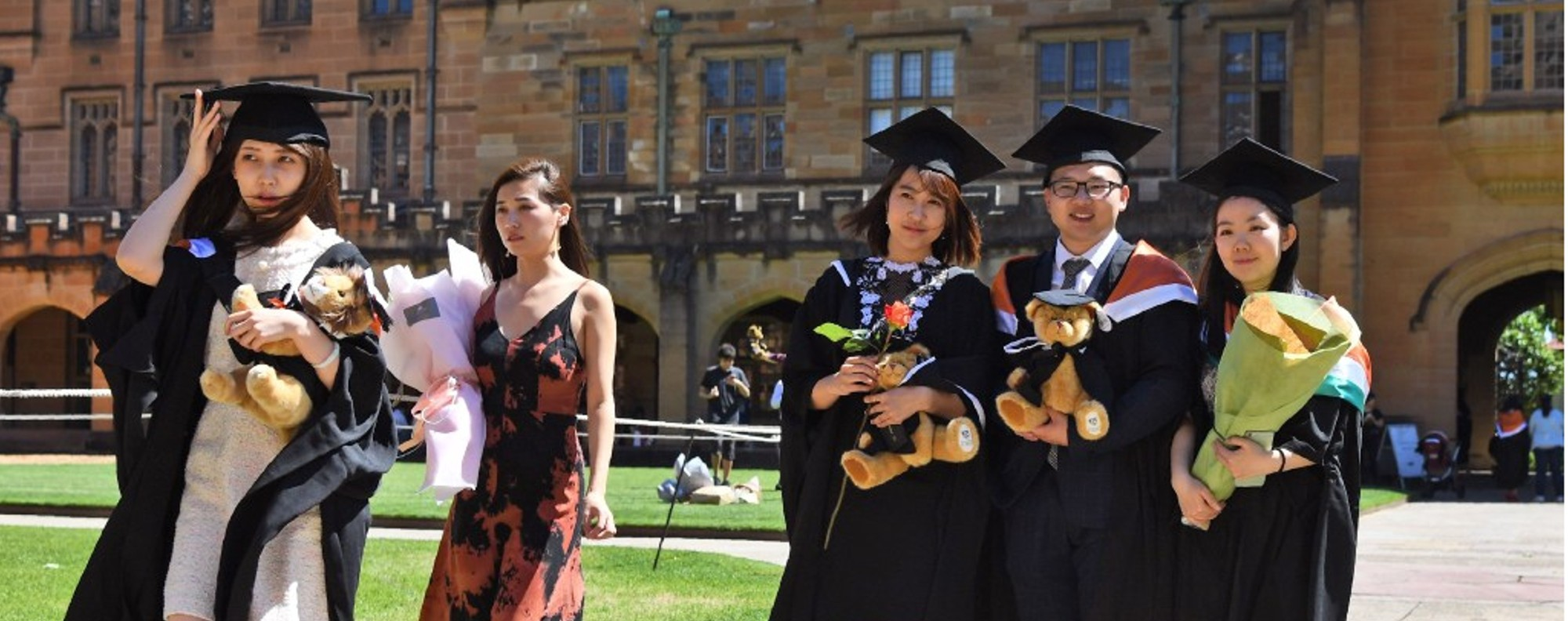 Students from China graduating from a course at Sydney University. Picture: AFP