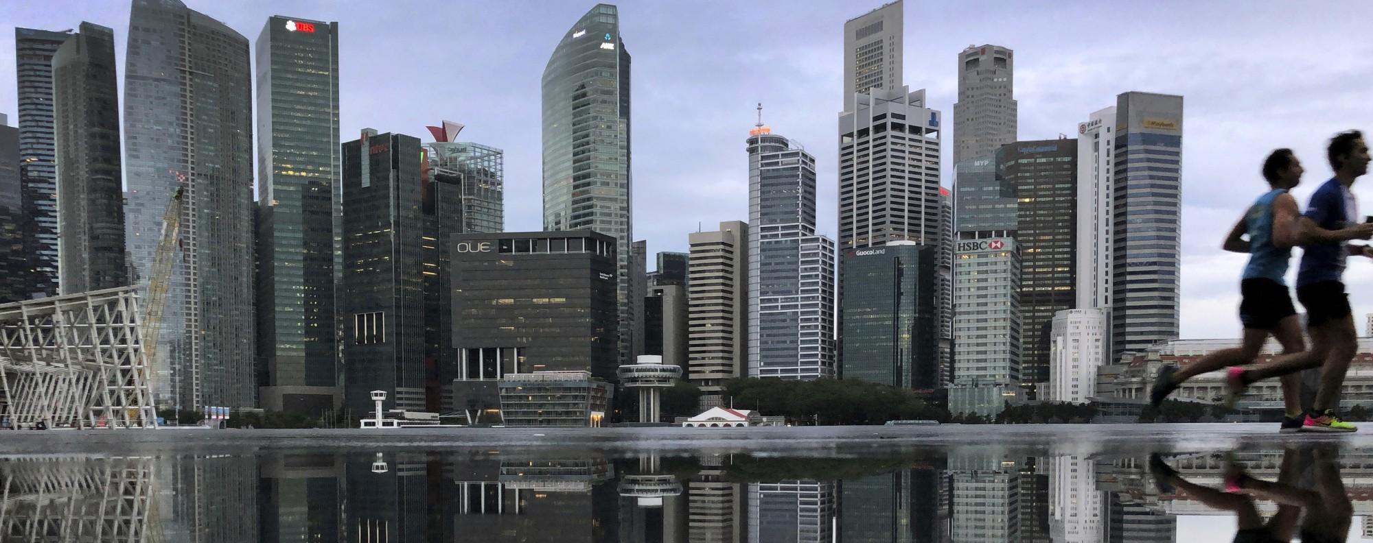 Singapore's financial district. Photo: AP