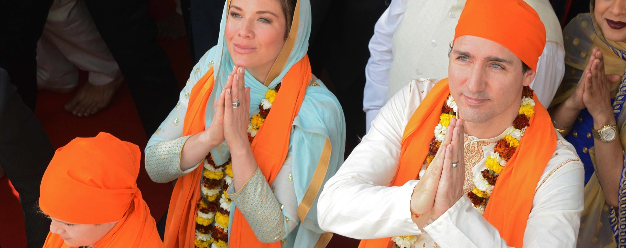 Trudeau in Amritsar. Photo: AFP