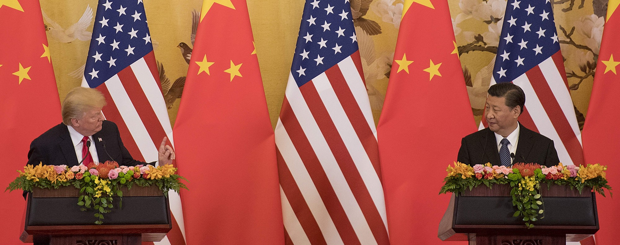 Trump and Xi: ten paces? Photo: AFP