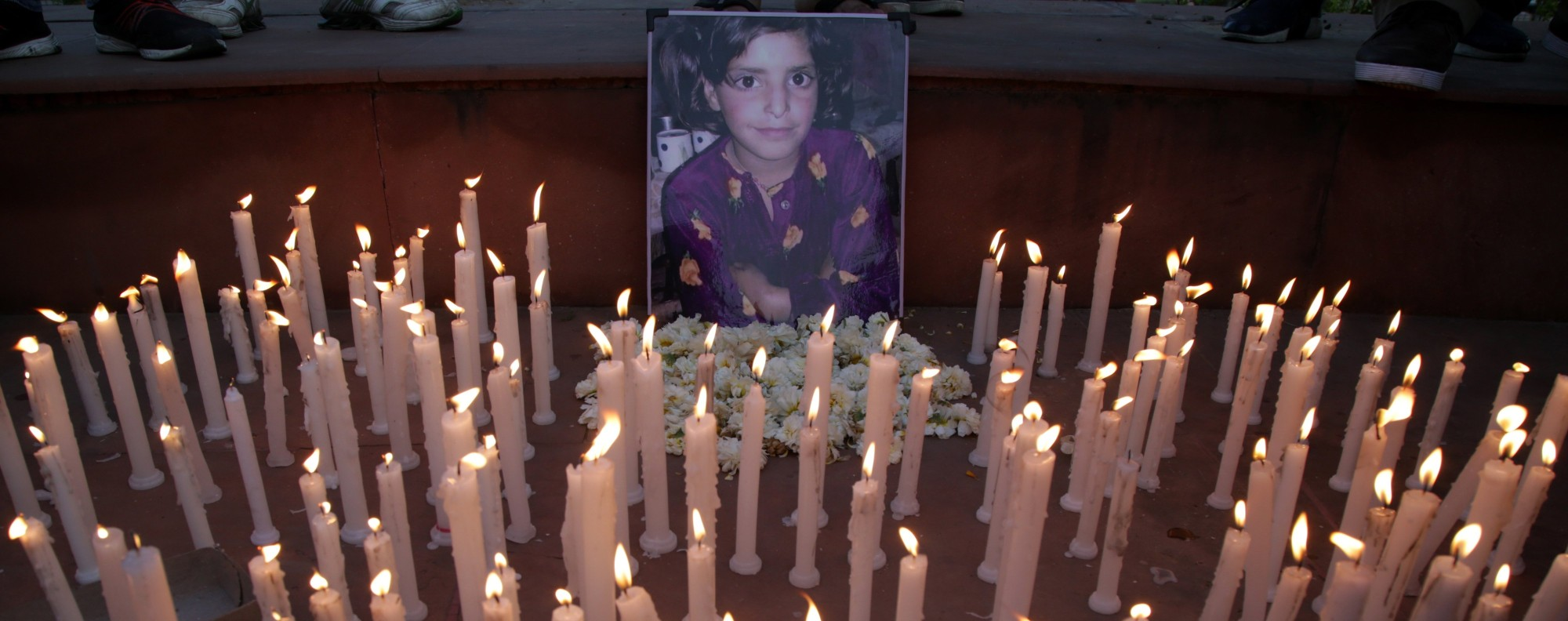 A vigil for eight-year-old Asifa Bano. Photo: EPA