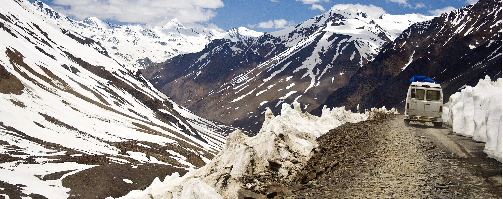 Snow-covered peaks of the Rohtang Pass. Picture: Tim Pile