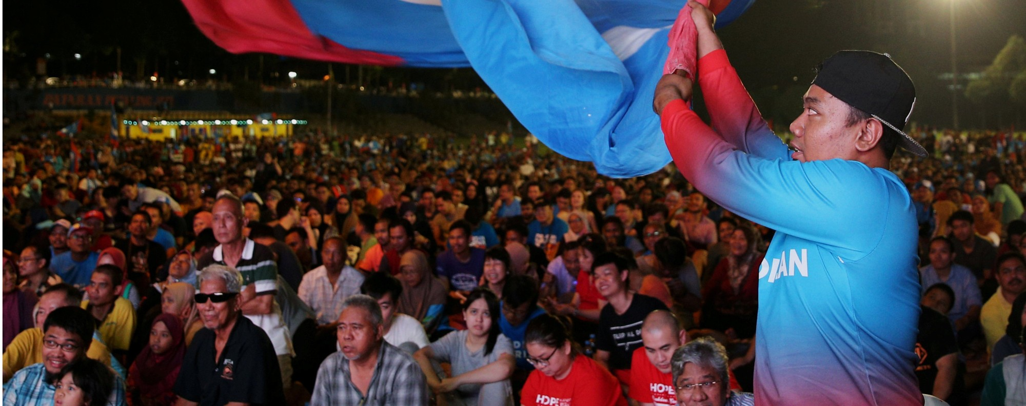 Mahathir supporters in Petaling Jaya, Malaysia. Photo: Reuters