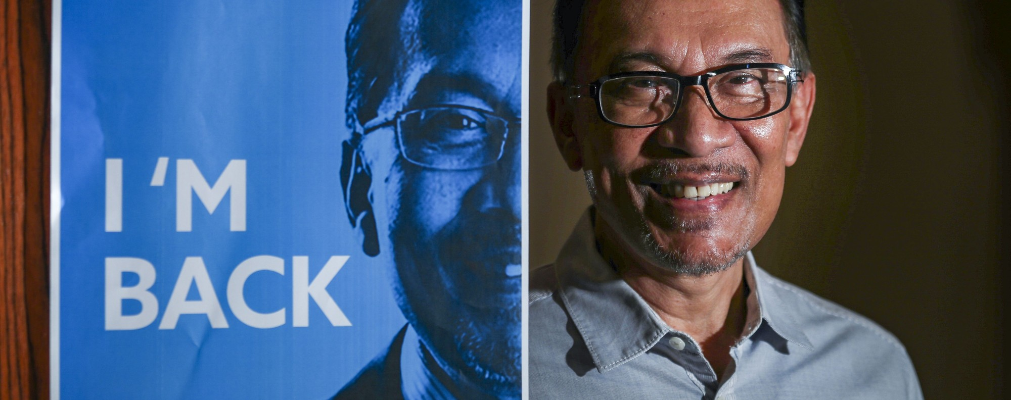 He's back: Anwar Ibrahim. Photo: Nora Tam