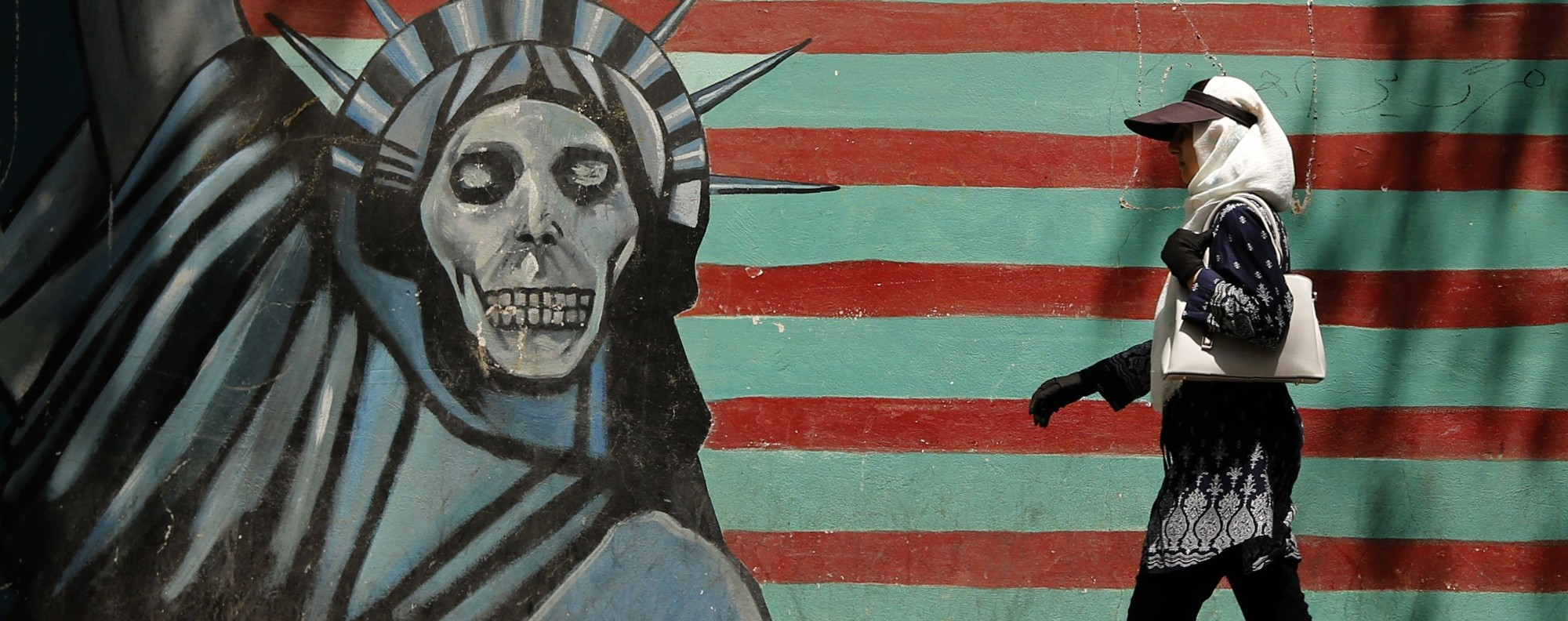 A mural near the former US embassy in Tehran. Photo: AFP